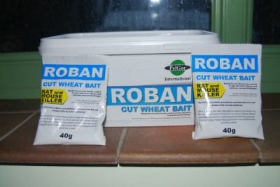 Roban Cut Wheat 25 X 40g Sachets Poison/Bait